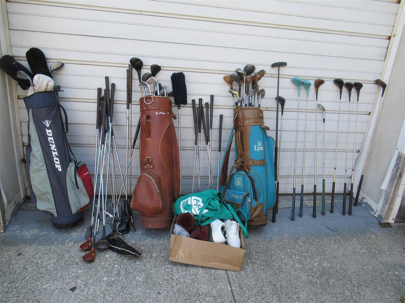 Large Group of Assorted Vintage Golf Clubs