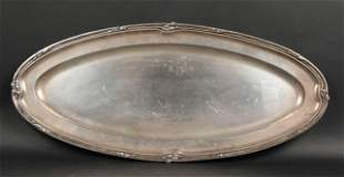 Continental Sterling Silver Oval Platter