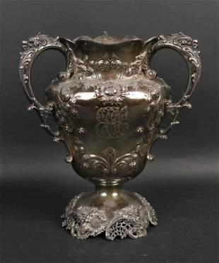 Theodore B. Starr 19th C Sterling Loving Cup