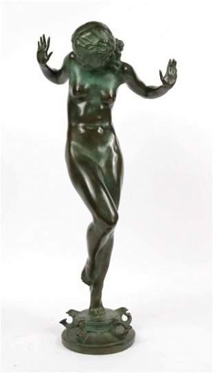 """Bronze Fountain, Harriet W. Frishmuth, """"Scherzo"""""""