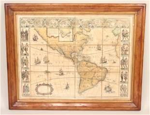 Map Americae Nova Tabula Wilem J Blaeu