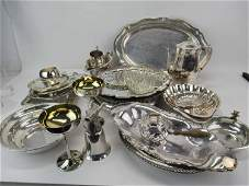 Group of Assorted Silverplate Table Articles