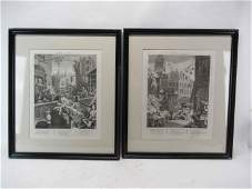 Pair of William Hogarth Framed Engravings