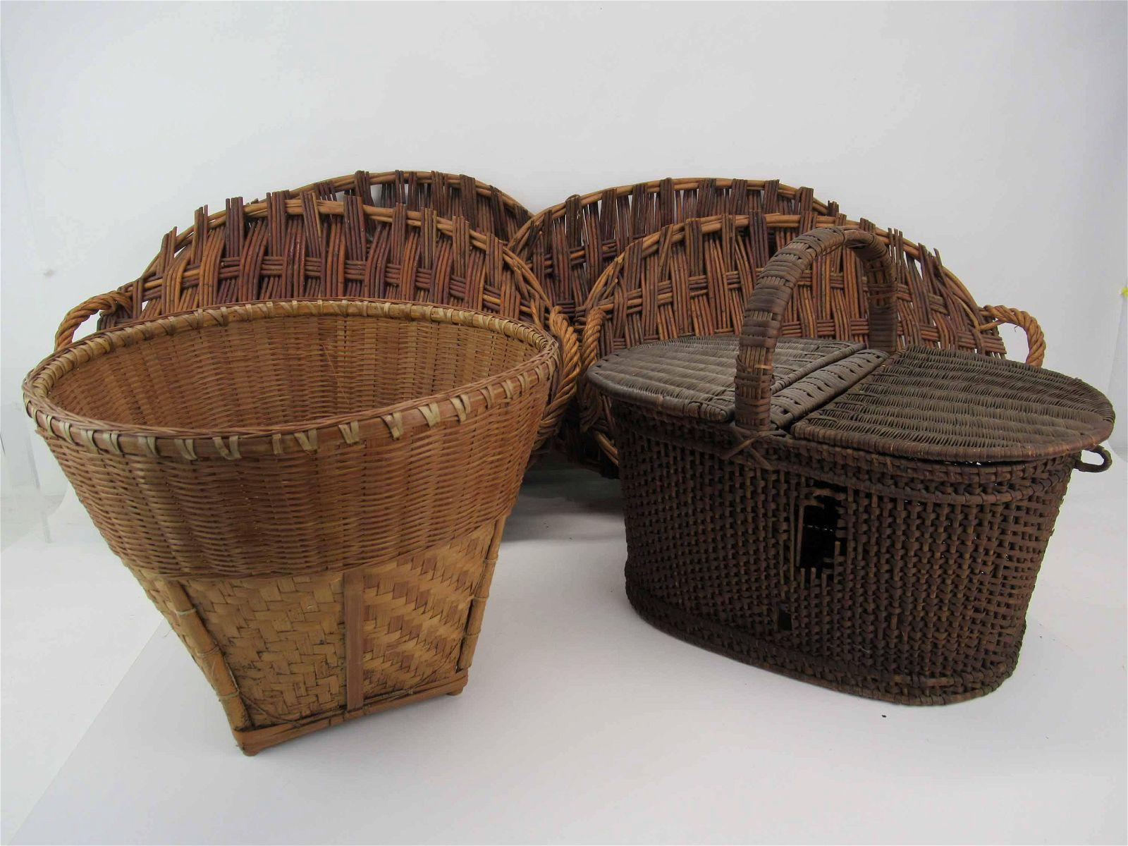 Antique Shaker Woven Basket