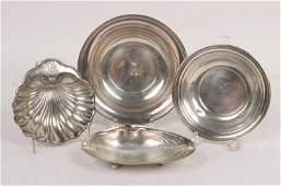Wallace Sterling Silver Clamshell Form Trophy