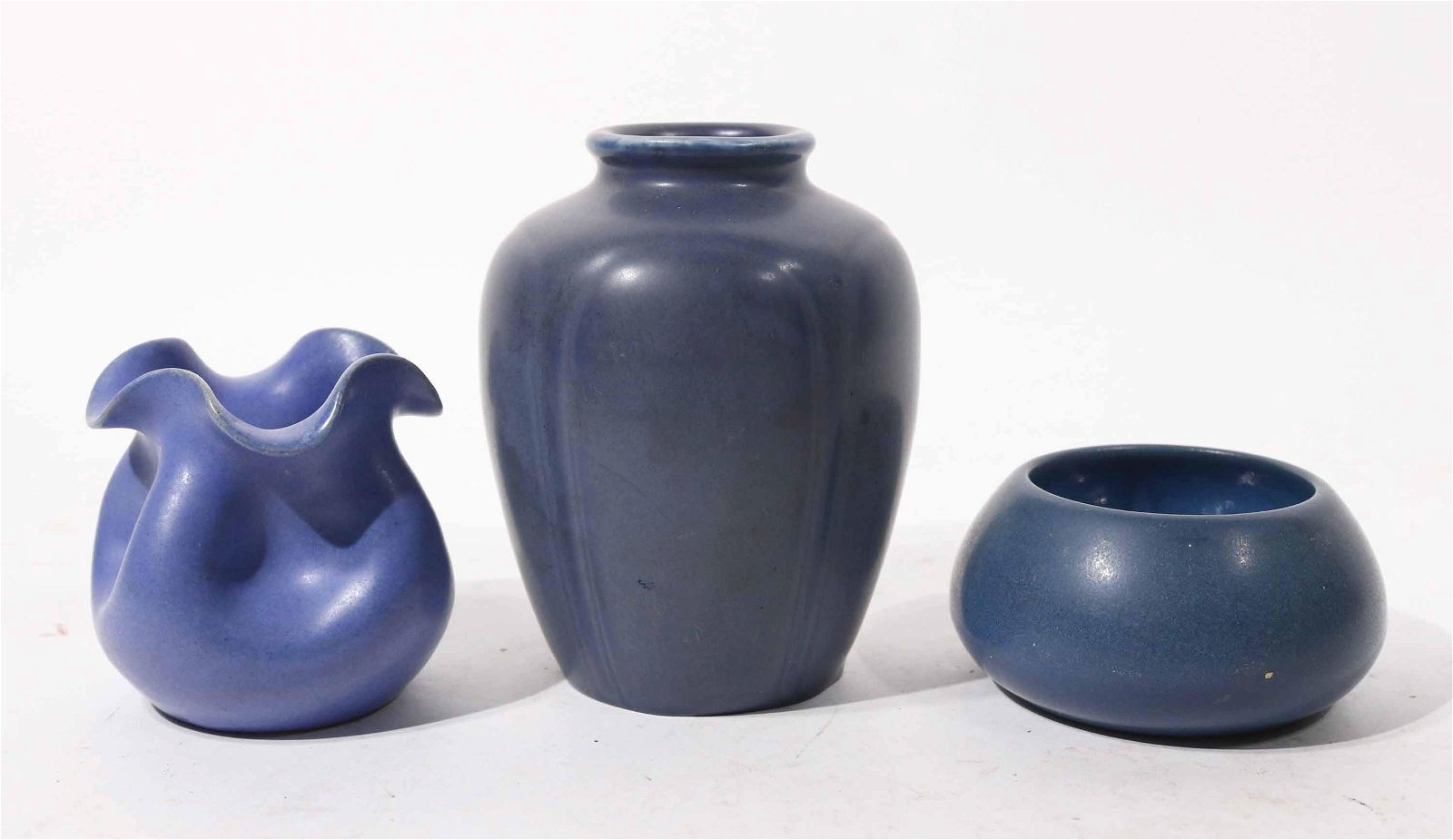 Two New Hampshire Vases and One Marblehead Bowl