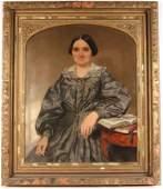 Oil on Canvas Portrait of a Woman Seymour Guy