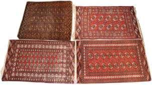 Four Tekke Bokhara Throw Rugs