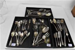 Group of Silverplate Serving  Flatware Articles