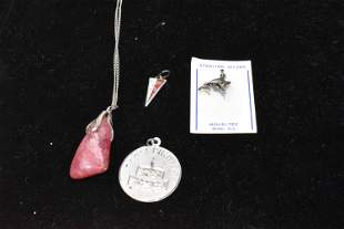 Group of Assorted Silver Pendants