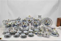 Partial Set of Italian Faience Carnation Pottery