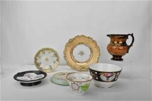 Group of Antique Continental Porcelains