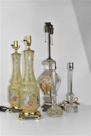 Group of Assorted Table Lamps