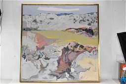 Gabriel Godard Oil on Canvas of Landscape