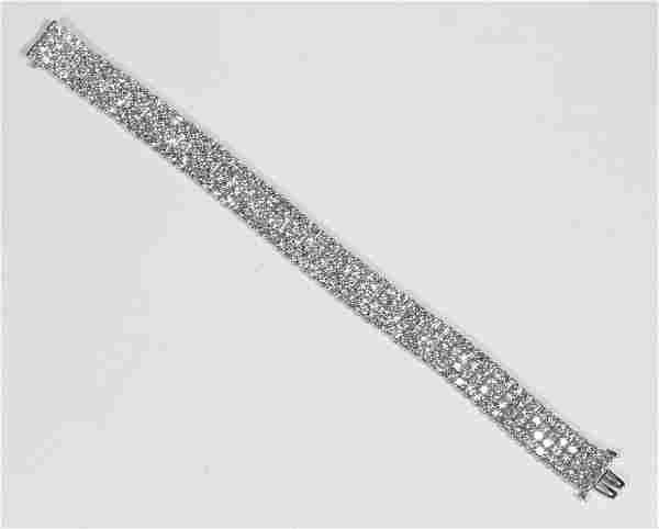 Bayco Diamond and Platinum Bracelet