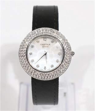 Chatila Diamond & Mother-of-Pearl Ladies Watch
