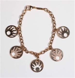 Chopard Five Sun Charm Bracelet, Two Paved Discs
