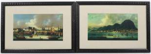 Pair of Prints of International Ports
