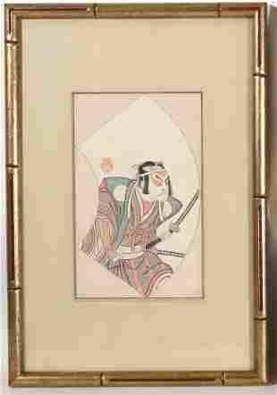 Shunsho Katsukawa 1524 Otami Hioji II Samurai