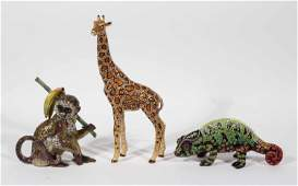 Three Jay Strongwater Animal Figurines