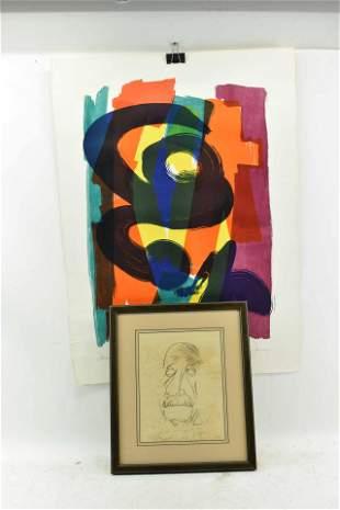 Modern Herbert Bauer Colored Lithograph