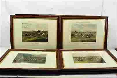 Set of 8 C. Bentley Steeple Chase Engravings