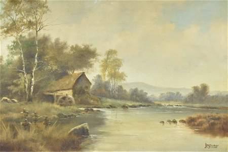 J.M. Ducker Oil on Canvas
