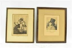 Francisco de Goya Nadie Nos Ha Visto Engraving