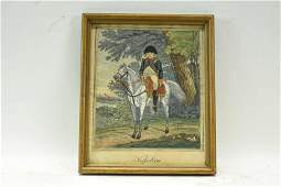 Antique Hand Colored Engraving of Napoleon