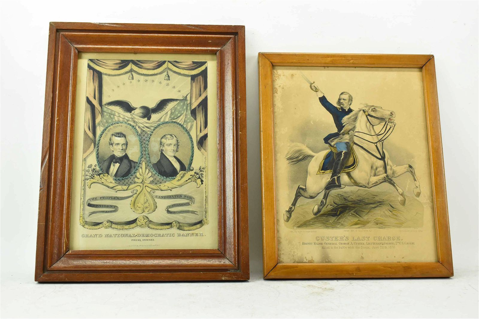 1876 Currier & Ives Custer's Last Charge Print