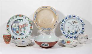 Twelve Assorted Chinese Porcelain Table Articles