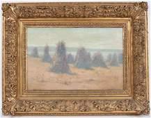 William Lees Judson, Oil on Canvas, Haystacks