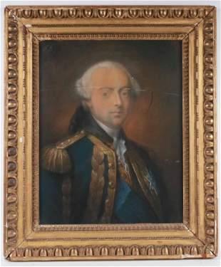 Charles D'Estaing, Pastel, Portrait of Count