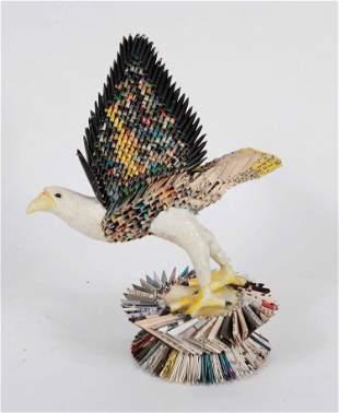 Quian Zhi, Paper & Papier Mache Wingspread Eagle