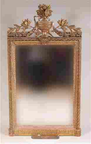 Louis XVI Giltwood Console Mirror