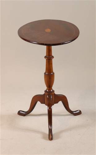 Federal Style Mahogany Tilt-Top Candlestand