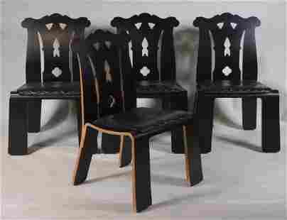 Four Robert Venturi Chippendale Chairs