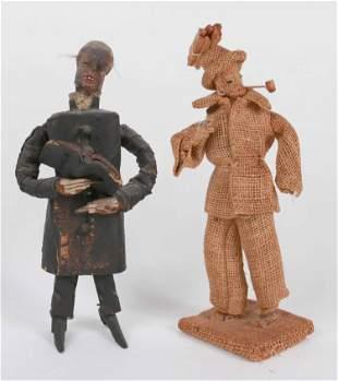 Pine & Papier Mache Figure of a Black Preacher