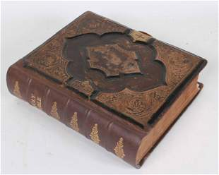 Antique Leather-Bound Holman Holy Bible