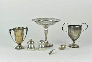 2 English Sterling Trophy Cups