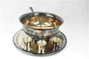Wallace Silverplate Punch Bowl Set