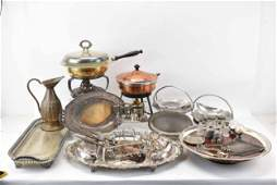 Group of Silverplate Table Articles
