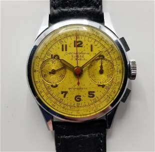 Vintage Chrono Suisse Chronograph Hand-Wind Watch