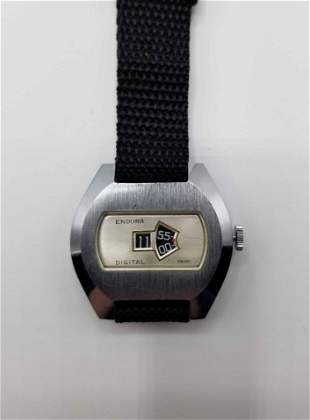 Vintage Endura Jump Hour Mechanical Watch