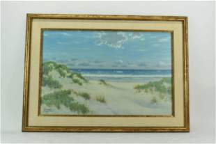 Herbert Foerster Oil on Canvas Seascape