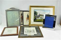 Group of Assorted Artwork and Picture Frames