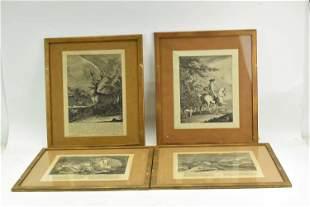 Three Johann Elias Ridinger Engravings