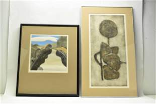 Two Abstract Intaglio Lithographs