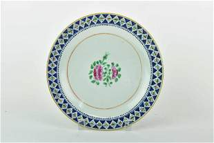 Antique Chinese Famille Rose Floral Dish