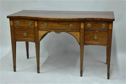 Antique George III Inlaid Mahogany Sideboard